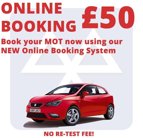 Online MOT Bookings
